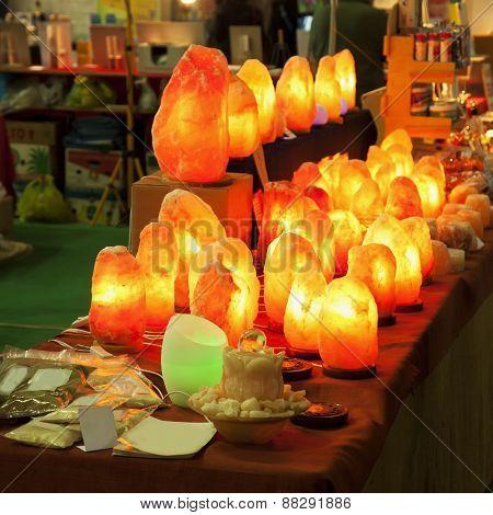 Stone Lamps