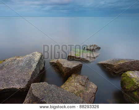 Baltic Sea Stone Breakwater