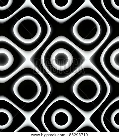 Unique black and white pattern for background or backdrop