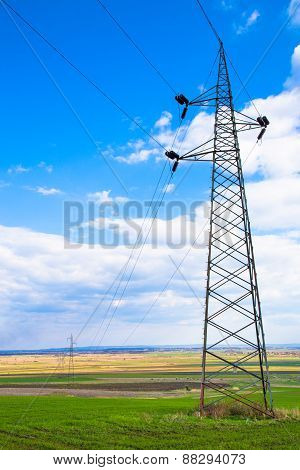 high voltage electricity poles