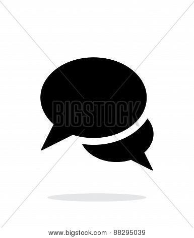 Talk bubble icon on white background.