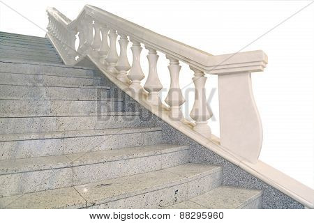 Fragment Of A Marble Staircase