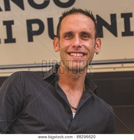 Seth Gold Of The Tv Series Hardcore Pawn At Fuorisalone During Milan Design Week 2015