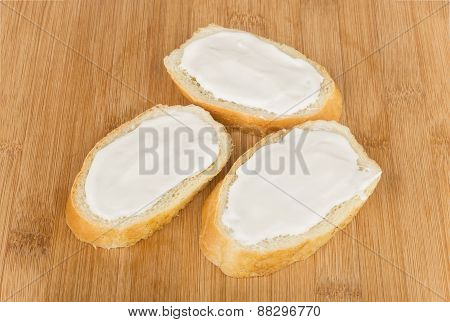 Three Small Sandwich With Melted Cheese