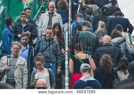 Crowd At Fuorisalone During Milan Design Week 2015