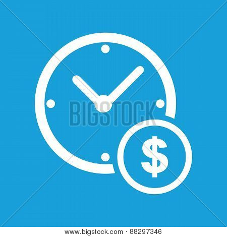 Clock money white icon