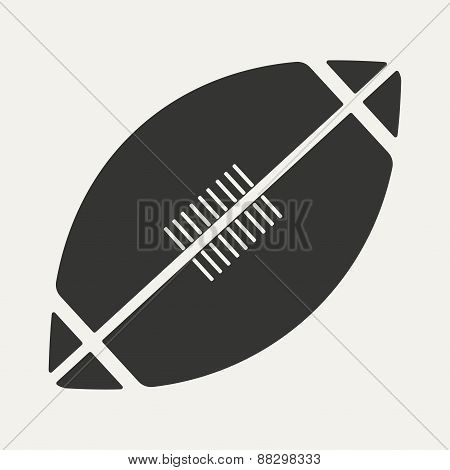 Flat in black and white mobile application rugby