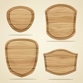 image of wood design  - Set of wood elements for design - JPG