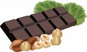 picture of chocolate fudge  - Stick chocolate fudge with nuts for feeding - JPG