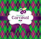 picture of venice carnival  - Bright vector carnival icons and sign Welcome to Carnival - JPG
