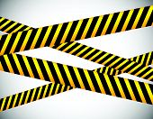 stock photo of strip  - Repeatable yellow tapes bands strips - JPG