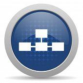 image of cisco  - database blue glossy web icon  - JPG