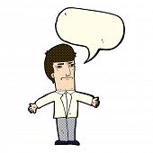 stock photo of annoying  - cartoon annoyed boss with speech bubble - JPG