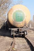 image of fuel tanker  - Tanks with fuel being transported by rail  - JPG