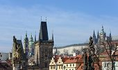 picture of nicholas  - Panoramic view from Charles Bridge toward Lesser Town towers St - JPG
