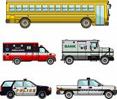 foto of armored car  - Silhouette illustration of special vehicles on white background - JPG