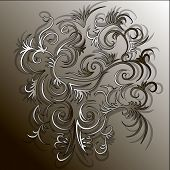 picture of drow  - beautiful pattern on a brown background with shadow on the background - JPG