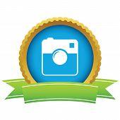 foto of megapixel  - Gold camera logo on a white background - JPG