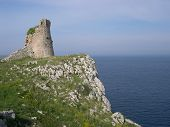 picture of saracen  - apulia coast near otranto salento watchtower lecce south italy ruins of towers defence system anti saracens incursions - JPG