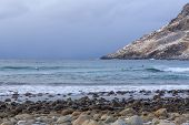 image of lofoten  - The coast of the Lofoten Islands in Norway - JPG