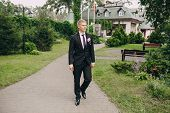 image of ceremonial clothing  - beautiful wedding ceremony outdoors in the woods - JPG