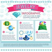pic of jewelry  - Precious jewels infographics with fashion jewelry gems and accessories set vector illustration - JPG