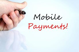 foto of payment methods  - Mobile Payments Concept Isolated Over White Background - JPG