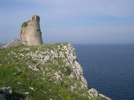 foto of saracen  - apulia coast near otranto salento watchtower lecce south italy ruins of towers defence system anti saracens incursions - JPG