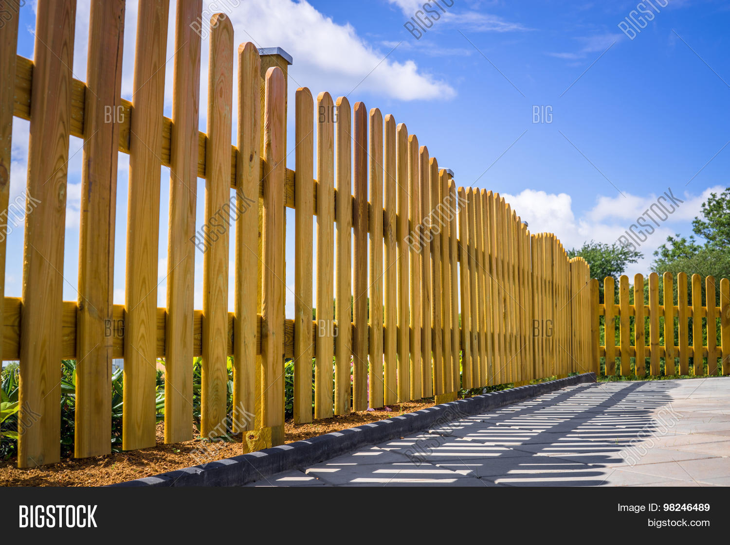 Fence on terrace image photo bigstock for Terrace fence