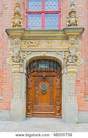 Entrance Door In Gdansk, Poland.