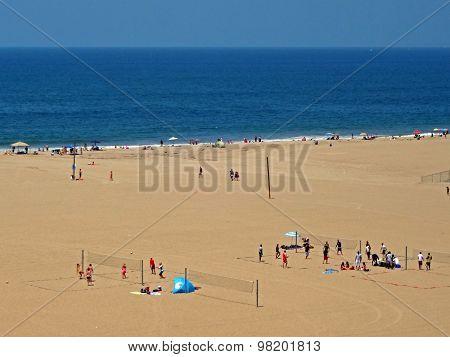 Beach Of Santa Monica, Usa, 2013