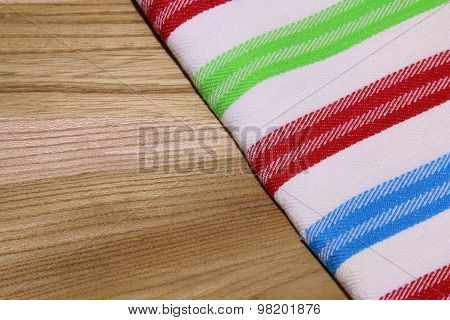Photo Of Tablecloth (dishtowel) On Wooden Table