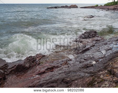 Waves On The Lake Superior Shore In Lutsen 1