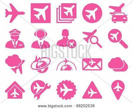 Aviation Flat Icons