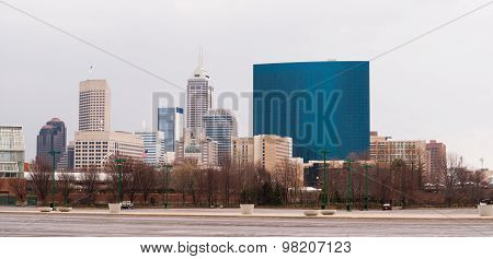 Indianapolis Indiana Downtown Urban City Skyline Midwest Usa
