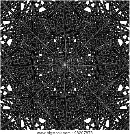 Abstract Spider Web Construction Structure Vector