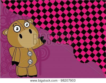 cartoon plush baby camel background