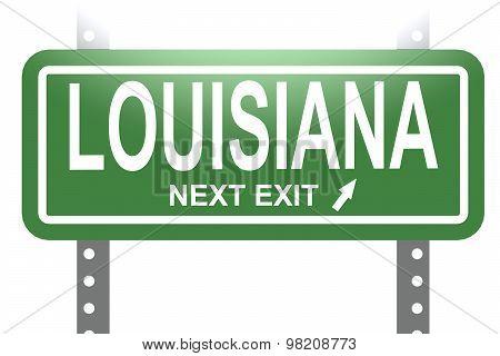 Louisiana Green Sign Board Isolated