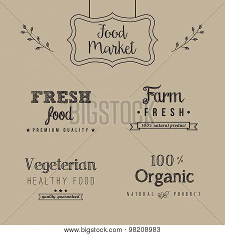 Set of food design elements