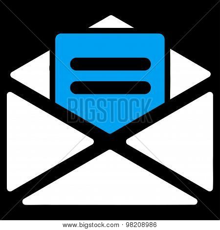 Open mail icon from Business Bicolor Set