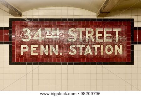 34Th Street Penn. Station - New York City Subway