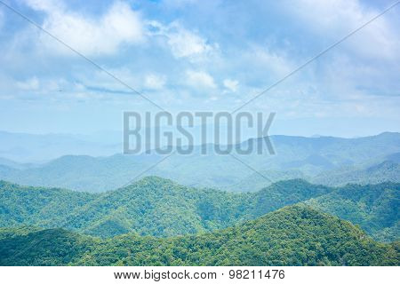 Mountain Range Landscape In Spring