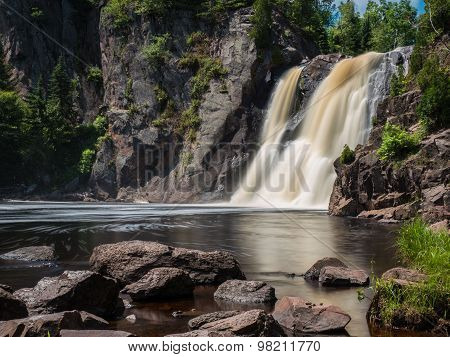 High Falls of Baptism River at Tettegouche State  Park