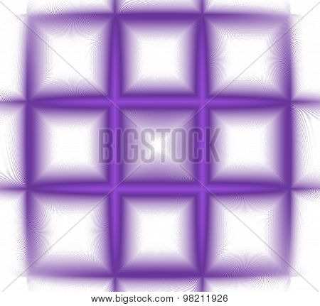 Abstract Fractal Violet Square Isolated