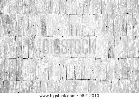 White Grunge Wood Shingle Wall Pattern