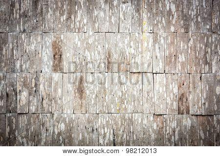 Sepia Grunge Wood Shingle Wall Pattern