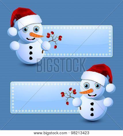 Cute Little Snowman Banners