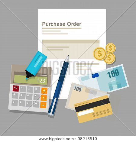 purchase order po document paper work procurement