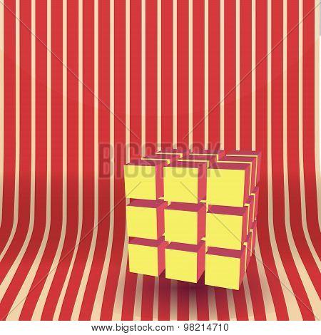 Vector cube block 3D illustration