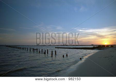 Sunset Beach de Mississippi